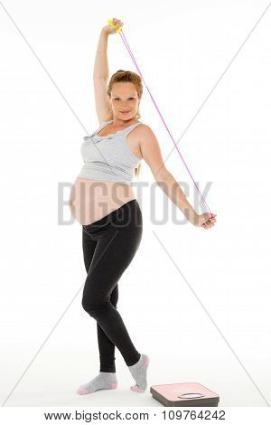 Sports  Pregnant Woman With Scales.