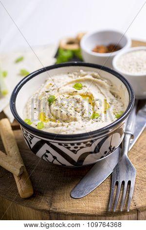 Bowl Full Of Hummus
