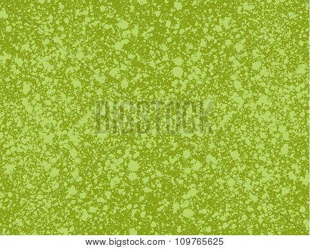 Graffiti Paint Splatter Pattern In Multiple Green