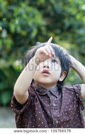 Asian Cute Little Boy