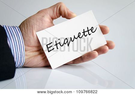 Etiquette Text Concept