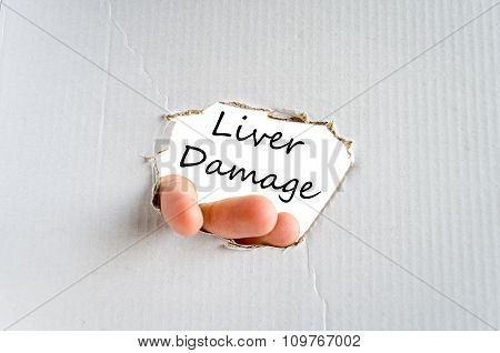 Liver Damage Text Concept