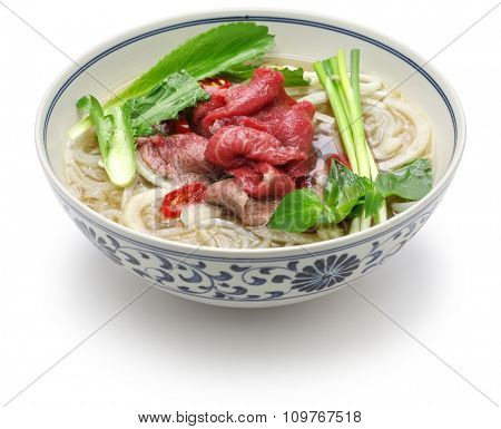 pho bo, vietnamese beef rice noodle soup