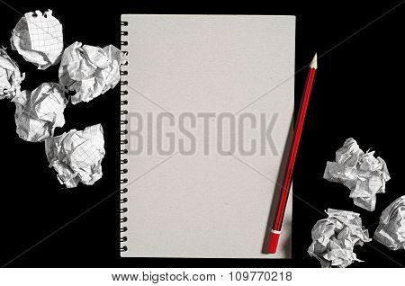 Notepad And Paper Balls