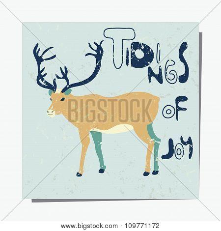 Deer Winter Card