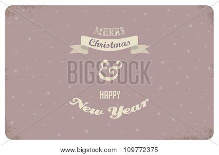 merry christmas. vintage card design. vector illustration
