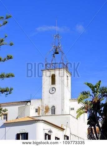 The historical bell tower of Torre de Relogio in A