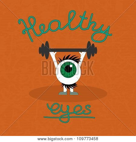 Gymnastics for the healthy eyes.