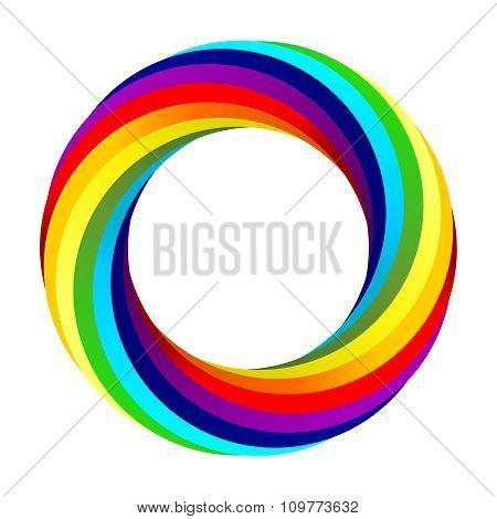 Vector Rainbow spiral vector