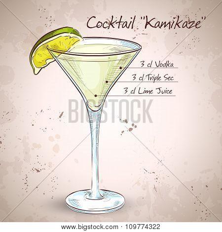 Kamikaze alcohol cocktail