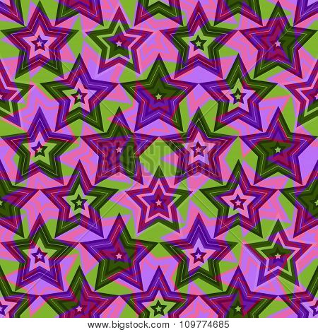 Vector Background Of Repeating Geometric Stars. Stars Seamless Backdrop