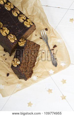 Christmas gingerbread cake