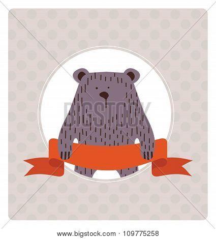 merry christmas postcard card design. vector illustration