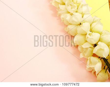 Colorful Artificial Flowers For Background