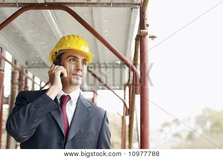 Architect With Mobile Phone
