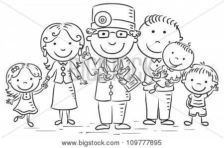 Cartoon Family Doctor