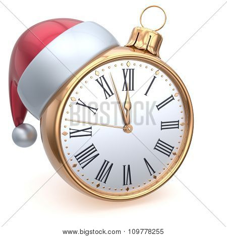 Christmas Ball Alarm Clock New Year's Eve Time Midnight Hour