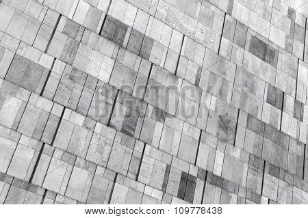 Concrete Wall Made Of Different Size Blocks, Background