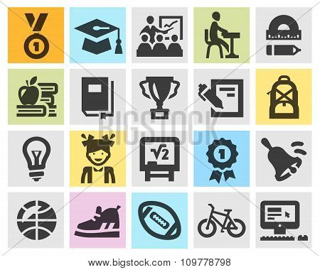 education vector logo design template. school or study icons