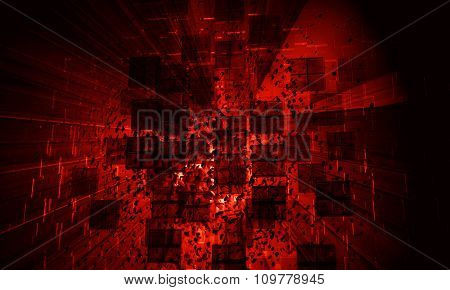3d abstract explosion background
