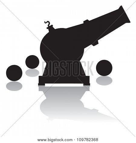Cannon silhouette