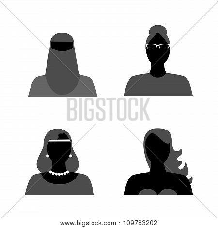 The Womans Set Black