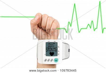 Quit Smoking on blood pressure monitör