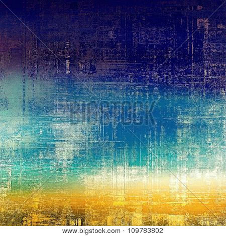 Grunge colorful background or old texture for creative design work. With different color patterns: yellow (beige); blue; purple (violet); white