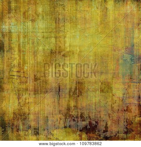 Aged grunge texture. With different color patterns: yellow (beige); brown; green; gray