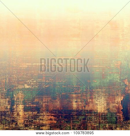 Vintage old texture for background. With different color patterns: yellow (beige); brown; blue; green; pink