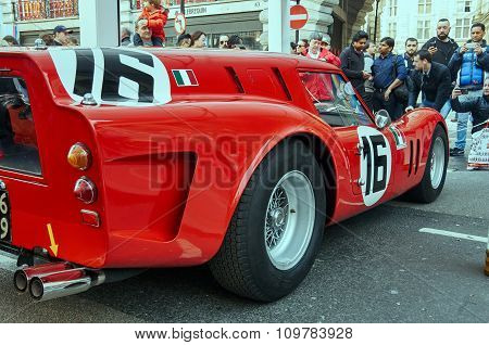 London, UK - October 31, 2015:  Regent street motor show - red ferrari 31st October 2015 LONDON.UK