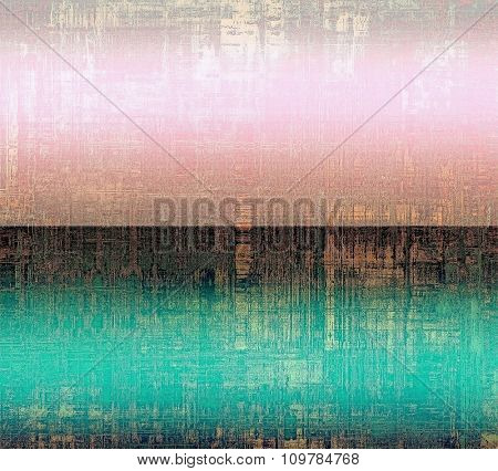 Computer designed highly detailed vintage texture or background. With different color patterns: brown; black; blue; pink