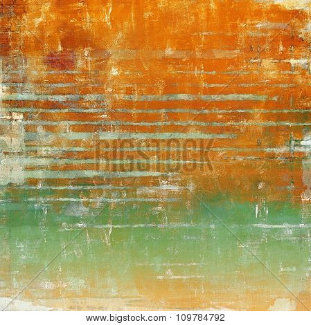Vintage old texture with space for text or image, distressed grunge background. With different color patterns: yellow (beige); brown; red (orange); green