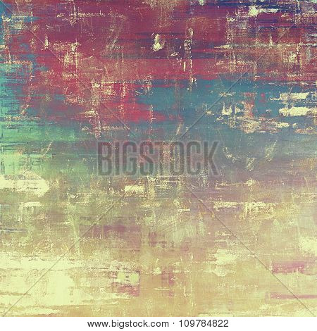 Grunge texture, distressed background. With different color patterns: yellow (beige); brown; blue; purple (violet)