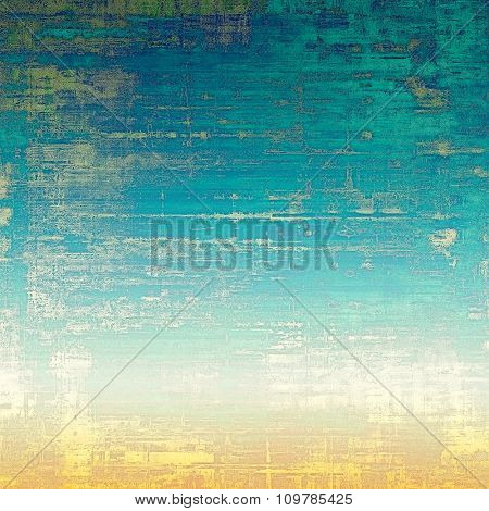 Old texture as abstract grunge background. With different color patterns: yellow (beige); blue; green; white