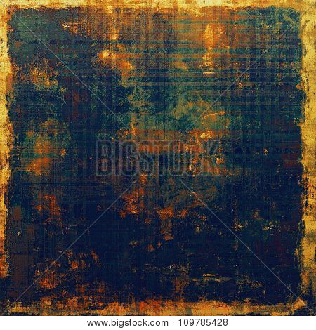 Rough grunge texture. With different color patterns: yellow (beige); brown; red (orange); blue