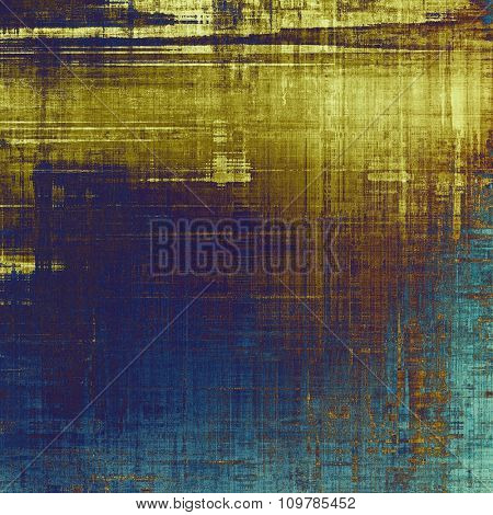 Old grunge template. With different color patterns: yellow (beige); brown; blue; gray