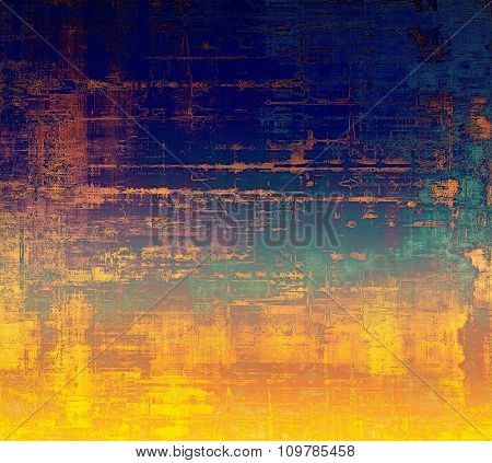 Computer designed highly detailed vintage texture or background. With different color patterns: yellow (beige); brown; blue; purple (violet)