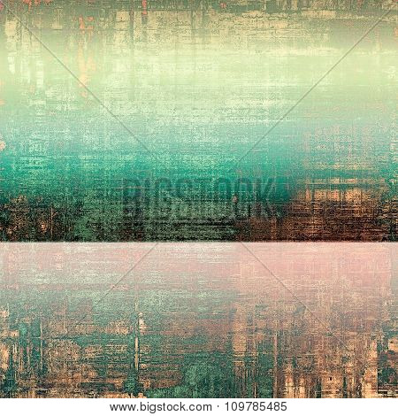 Old texture as abstract grunge background. With different color patterns: yellow (beige); brown; green; pink