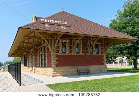 Historic Depot In Whitewater