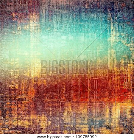 Old grunge template. With different color patterns: yellow (beige); red (orange); blue; purple (violet)