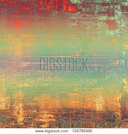 Grunge texture or background with space for text. With different color patterns: yellow (beige); red (orange); blue; green