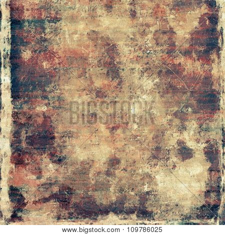 Old abstract grunge background for creative designed textures. With different color patterns: yellow (beige); brown; red (orange); black