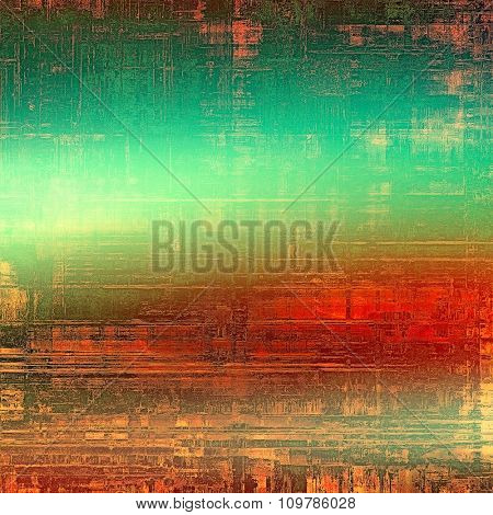 Grunge background with space for text or image. With different color patterns: yellow (beige); brown; red (orange); green