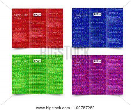 Set of vector three fold brochure design templat