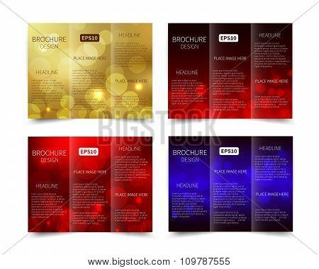 Set of vector tri-fold brochure design