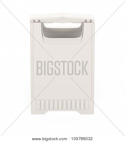 Advertising Stand Isolated On White Background. 3D Illustration.