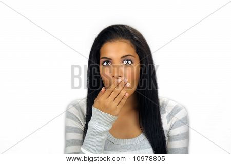 Beautiful Teen Latina Shocked Or Embarrassed