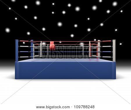 Boxing Ring. 3D Illustration.