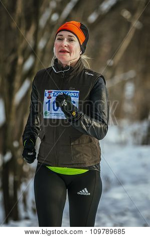 smiling middle-aged women run
